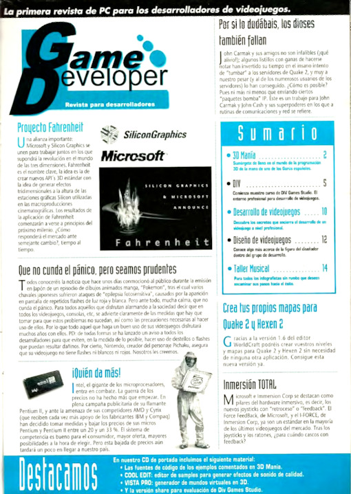 Game Developer Año 1 · Nº 4 May 1998